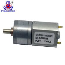 1.5V ET-SGM20B 8 - torque alto de baixo nível de ruído do motor da CC 1000rpm