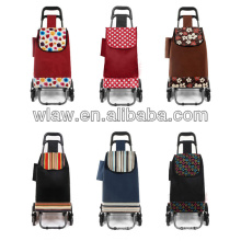 Collapsible shopping trolley bags with 2 wheels