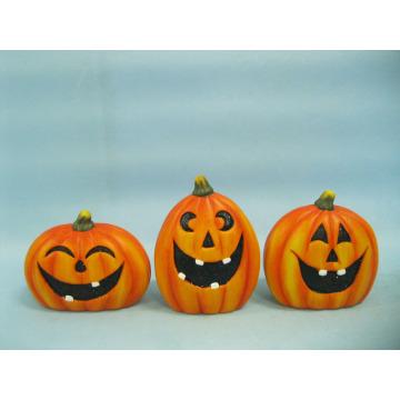 Arts et artisanat en céramique de citrouille d'Halloween (LOE2375-9.5)