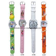 Relógio barato das crianças da faixa dos desenhos animados do silicone 3D para o presente relativo à promoção