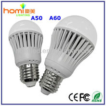 high power high brightness Aluminium alloy PC cover e27 b22 LED light bulbs