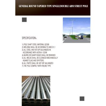 12 Meters Octagonal Columns Poles For Lighting