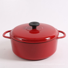 large oval enamel coating cast iron casserole/cooking pot