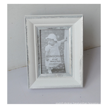 New Wooden Foil Photo Frame in Silver Line