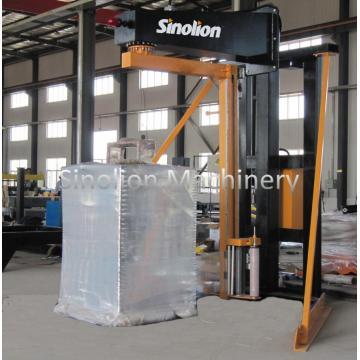 Semi-auto rotary arm lldpe stretch wrapper