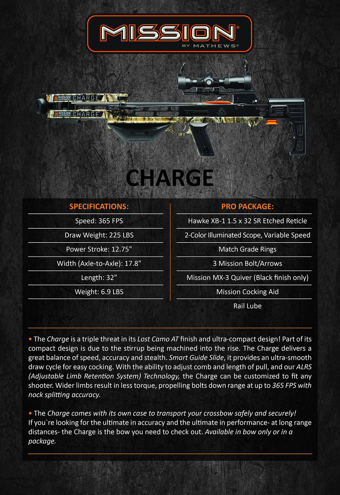 Mission Charge Product Description