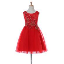 Кривой шеи платье девушки цветка для свадьбы и торжественных