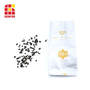 Bolsa de refuerzo lateral de papel de aluminio impresa personalizada para embalaje de té