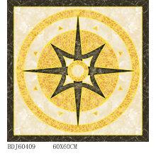 Elegante alfombra decorativa de azulejos de oro con 800x800mm (BDJ60409)