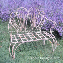 Bench, material wrought iron, aluminum, cast iron, wood, color according to sample col