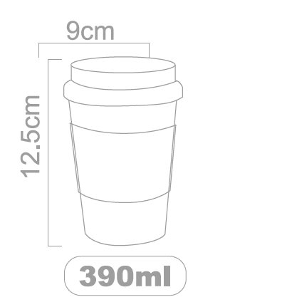 390ml coffee cup