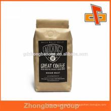 Nouveaux produits chauds pour sac à café en aluminium Kraft en 2015 avec valve et cravate d'étanchéité