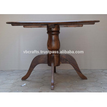 Mesa de comedor de madera maciza de mango Colonial Indian Design