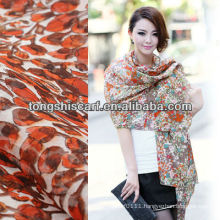 SD319-087 fashion custom silk screening scarf