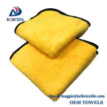Paño de limpieza de microfibra de lana de alta calidad 800gsm paño grueso y suave para la limpieza del coche