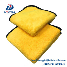 High quality 800gsm coral fleece microfiber cleaning cloth for car cleaning