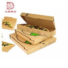 Boa qualidade logotipo personalizado impresso caixa de pizza de papel descartável