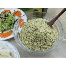 Sementes de cânhamo com casca orgânica asiática