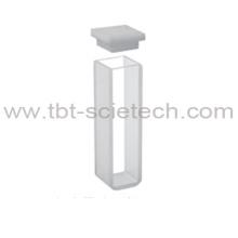 T-BOTA Vidro Óptico Económico Q-103 Padrão de cuvetes com tampa e fundo redondo