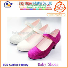 Guangzhou manufacturer cheap high heels kids party shoes