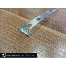 Decoration Trim with Aluminium Profile Material in Silver Brushed Color