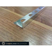 Decoração Trim com Material de perfil de alumínio em prata escovado Cor