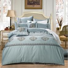 Fornecedores de Alibaba Chines longo-grampo de algodão folha plana 60S conjunto de cama
