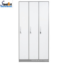 School used high quality steel 3 door almirah wholesale