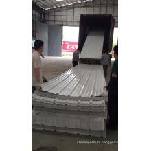 isolation thermique de bâtiment tejas PVC feuille de toiture
