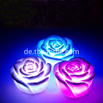 Flameless rose LED candle