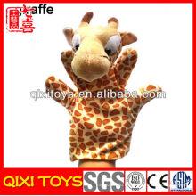 Peluche de felpa de felpa jirafa felpa jirafa marioneta de mano para niños en venta