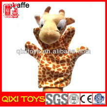 Bonecos de pelúcia pelúcia fantoches girafa fantoche de mão de pelúcia para venda
