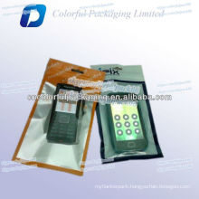 Laminated foil cell phone case poly bag with see through window