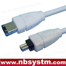 6FT FIREWIRE CABLE 6 À 4 PIN IEEE 1394 iLINK PC MAC