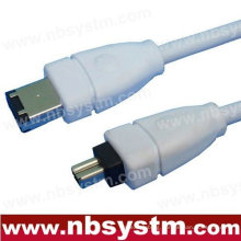 6FT FIREWIRE CABLE 6 TO 4 PIN IEEE 1394 iLINK PC MAC