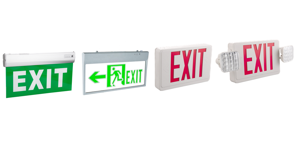 emergency exit sign led