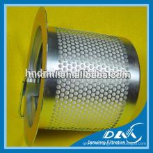 Filtro del compresor de aire 39863857 filtro de aire, cartucho de filtro de acero inoxidable