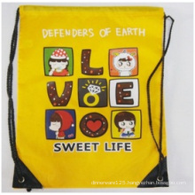 Promotional Drawstring Bags, Cartoon Backpack Bags Hot Stamping Logo