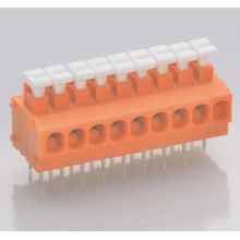 Safe PCB push-wire connector