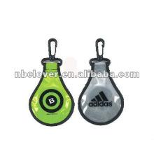 custom safe pvc reflective key chain / reflective light / pvc keychain