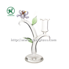 Glass Candle Holder for Home Decoration (8.5*15*22)