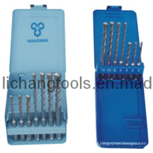 7PCS Drill Set with Colour Metal Case