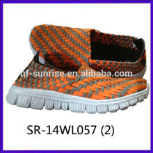 2014 new styles SR-14WL057 mix colors hand woven strap shoes