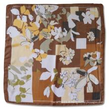 Lady Fashion polyester Georgette imprimé écharpe en soie carrée (YKY4135)