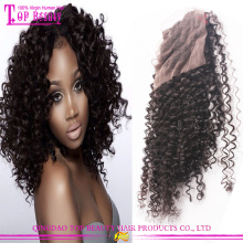 Top Quality Wholesale 100 Percent Brazilian Human Hair Free Part Kinky Curly Closure