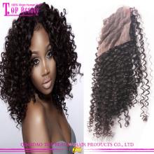 Top qualidade atacado 100% cabelo humano brasileiro parte livre Kinky Curly encerramento