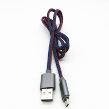 Cable de carga de datos USB Denim Jean para Micro Android