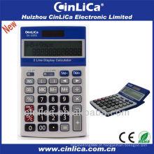 Calculadora de exibição de duas linhas com função de imposto