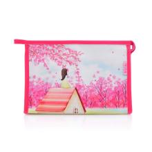 Леди моды цифровой печати PU рекламных косметических сумок сцепления (YKY7532-1)