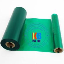 110 * 74 demi-pouce de noyau de cire de première qualité zèbre gk888t ruban d'impression couleur verte